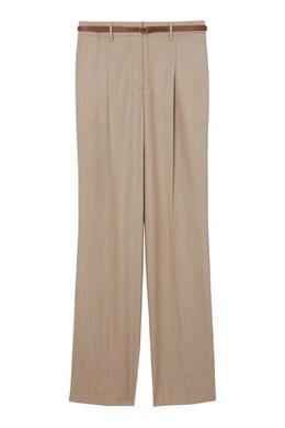 Бежевые брюки в пол Burberry 10167986