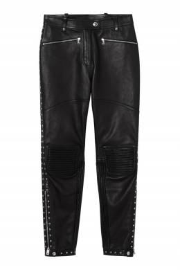 Кожаные брюки с заклепками Burberry 10168820