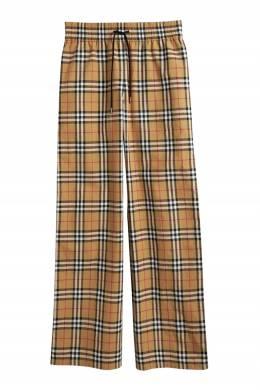 Широкие брюки с узором Vintage Check Burberry 10168250