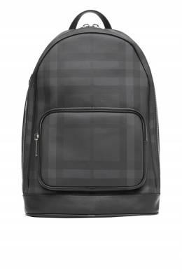 Рюкзак в клетку цвета графит Burberry 10169433