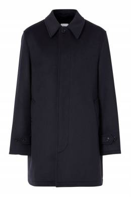 Темно-синее пальто из шерсти Burberry 10169575