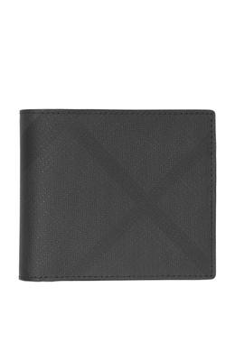 Черный бумажник в клетку Burberry 10167563