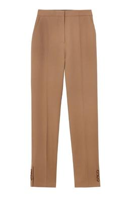 Бежевые брюки с декором из пуговиц Burberry 10169388