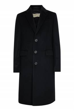 Шерстяное пальто черного цвета Burberry 10168426