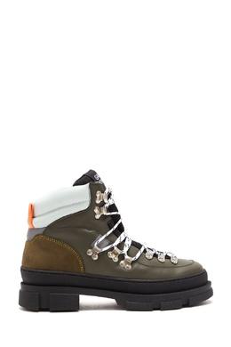 Ботинки-хайкеры из разноцветной кожи Ganni 2979176360