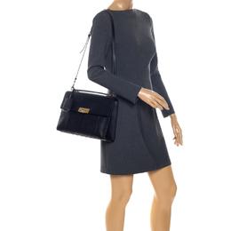 Balenciaga Black Python and Leather Le Dix Cartable Top Handle Bag 256917