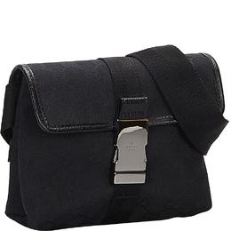Gucci Black GG Canvas Belt Bag 254542