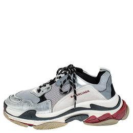 Balenciaga Multicolor Mesh, Nubuck And Leather Triple S Platform Sneakers Size 45 256444