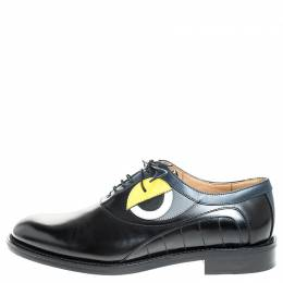 Fendi Black Leather Slick Eyes Oxfords Size 43 256553