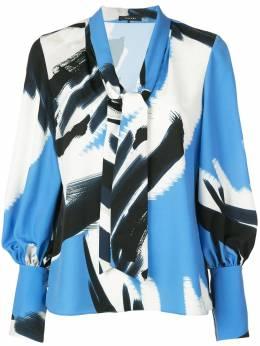 Natori блузка с завязкой и принтом K85003