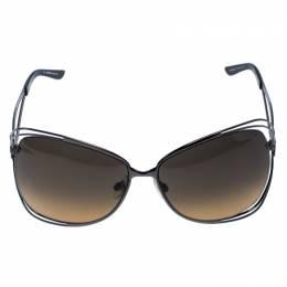 Roberto Cavalli Green Gradient Peonia 526S Oversize Sunglasses 257357