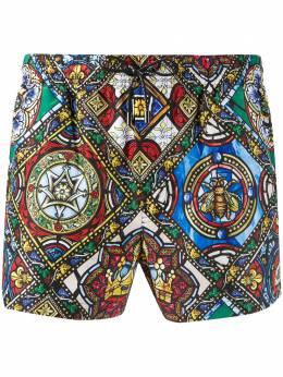 Dolce&Gabbana плавки-шорты с принтом M4A06THSMIC