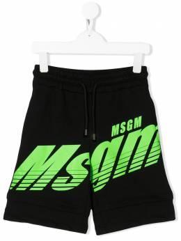 MSGM Kids шорты с логотипом 022429