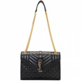 Saint Laurent Black Medium Mix Matelasse Envelope Bag 600185 0O7P1