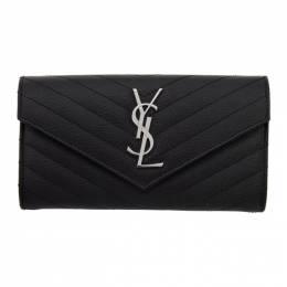 Saint Laurent Black Envelope Wallet 372264 BOW02