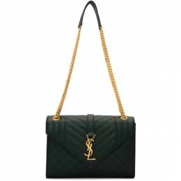 Saint Laurent Green Medium Envelope Bag 600185 BOW91