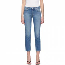Toteme Blue Straight Jeans 193-233-741