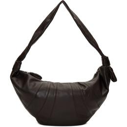 Lemaire Brown Large Croissant Bag X 203 BG252 LL095