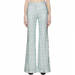 Halpern Green Sequin Stovepipe Trousers S20TR01.3