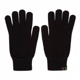 Ps by Paul Smith Black Wool Gloves M2A-641E-AV250