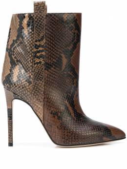 Paris Texas snakeskin effect stiletto boots PX123PB