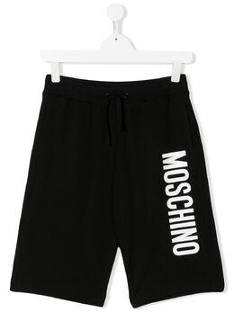 Moschino Kids шорты из джерси с логотипом HUQ007LDA13