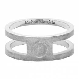 Maison Margiela Silver Decortique Logo Ring S50UQ0052 S12642