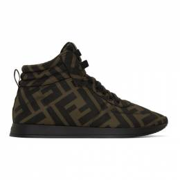 Fendi Brown and Black Forever Fendi Sneakers 8E7045 A2LY