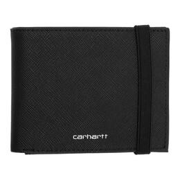 Carhartt Work In Progress Black Coated Billfold Wallet I026210