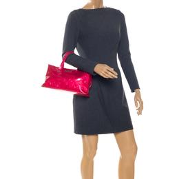 Louis Vuitton Rose Pop Vernis Wilshire PM Bag 256480