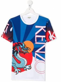 Kenzo Kids футболка с принтом KQ10568