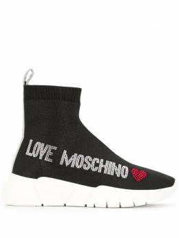 Love Moschino декорированные кроссовки с люрексом JA15103G1AIR0