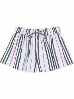 Burberry Kids шорты в полоску Icon Stripe 8025048