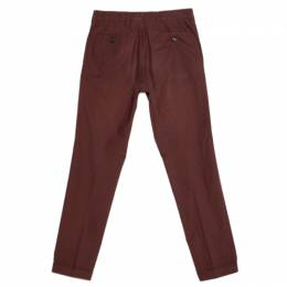 Prada Brown Cotton Tapered Trousers XS 257003