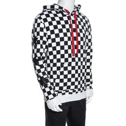 Amiri Monochrome Checked Cotton Jersey Hoodie L 257798