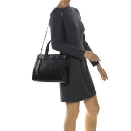 Aigner Black Leather Cavallina Top Handle Bag 257514