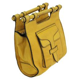 Loewe Yellow Leather Hammock Bag