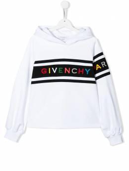 Givenchy Kids худи с вышитым логотипом H1514310B