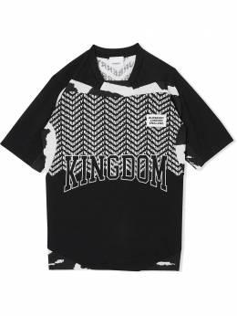 Burberry Kids сетчатая футболка с принтом Kingdom 8022718