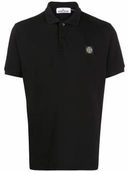 Stone Island рубашка-поло с нашивкой MO721522R39