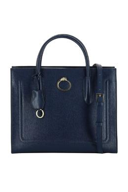 Темно-синяя кожаная сумка Roberto Cavalli Class 2792178198