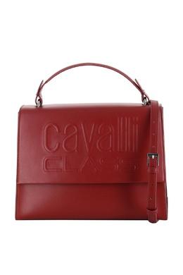 Красная кожаная сумка с логотипом Roberto Cavalli Class 2792178202