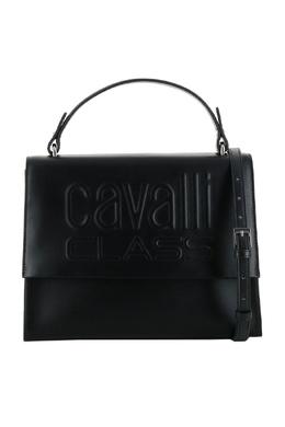 Черная сумка с леопардовыми вставками Roberto Cavalli Class 2792178203