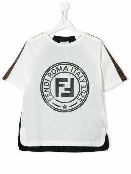 Fendi Kids футболка с логотипом JMI3127AJ
