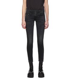 R13 Black Skinny Boy Jeans R13WM0086-40