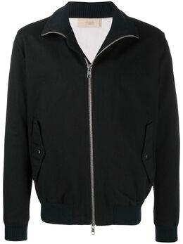 Maison Flaneur куртка на молнии с трикотажными вставками 19WMUJB150TC118