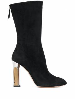 Alexander McQueen узкие ботинки на скульптурном каблуке 485800WHQV0