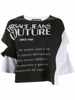 Versace Jeans Couture топ с графичным принтом и вырезами B2HVA72711620
