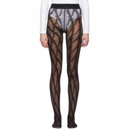 Versace Black V Pattern Tights ICZD006 A233559