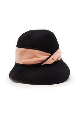 Черная шляпа из шерсти Elisabetta Franchi 1732179661